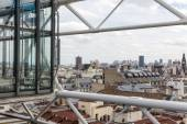 Aerial view of Paris from roof terrace of Centre Pompidou — Stock Photo