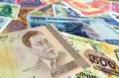 Bank notes of different countries — Stockfoto