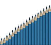Lápices azules — Foto de Stock