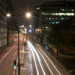 Night street in London with light trails — Stock Photo #69065305
