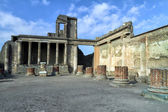 The mysteries of the death of the ancient city of Pompeii. — Stock Photo