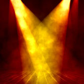 Interior shined with yellow projector — Stock Photo