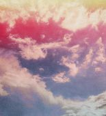 Pink clouds background — Stock Photo