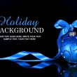 Christmas background with blue ornament and ribbon — Stock Photo #57716259