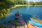 Pesca no lago — Fotografia Stock