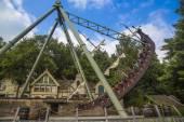 Efteling - Theme Park in Holland. Halve Maen swinging ship — Stock Photo