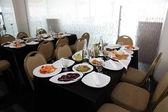 Celebratory buffet table — Stock Photo