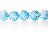 五个圣诞球 — 图库照片