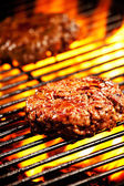 Grilled Burgers — Stock Photo