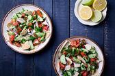 Lebanese Salad Fattoush — Stock Photo