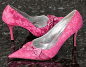 Pink Pumps Spitze — Stock Photo