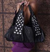 Schwarze glamour Tasche — Stock Photo