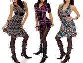 Fashion girls Kleider Zusammenstellung — Stock Photo