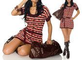 Fashion pic woman dress — Stock Photo
