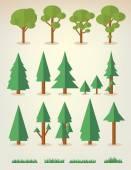 Coleção de árvores — Vetorial Stock