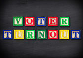 Voter turnout — Stock Photo