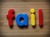 Fail concept — Stock Photo