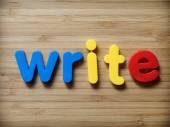 Write or writing concept — Stockfoto