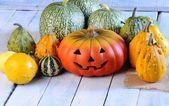 Halloween kabaklar. — Stok fotoğraf