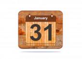 January 31. — Stock Photo