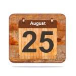 August 25. — Stock Photo #58161709