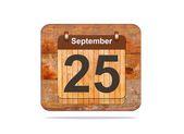 25 de septiembre. — Foto de Stock