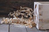 Drawer wood dovetail. — Stock Photo
