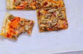 Preparing homemade pizza. — Stock Photo