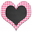 Checkered cloth heart. — Stock Photo #68762919