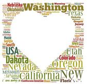 US states. — Stock Photo
