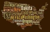 Us-Bundesstaaten. — Stockfoto