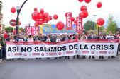 1st May demonstration in Gijon, Spain — Stockfoto