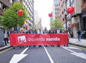 1st May demonstration in Gijon, Spain — Stock Photo