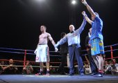 Fight for the European IBF championship — Stock Photo