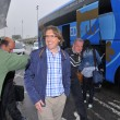 Football players from Real Oviedo on arrival at Asturias Airport — Stock Photo #74133337