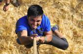 Farinato Race - extreme obstacle race in Leon, Spain. — Stock Photo