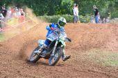Motocross w Sariego, Hiszpania. — Zdjęcie stockowe