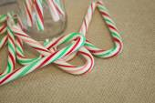 Rustic Candy Canes — Stock Photo