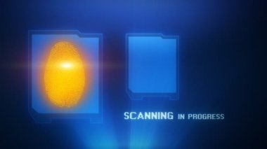 Fingerprint biometric scan — Stock Video