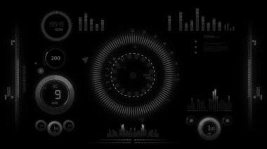Hitech interface animation — Stockvideo