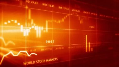 Stock data animated — Stock Video