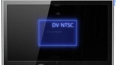 Aspect ratio concept NTSC compared FULL HD — Stock Video