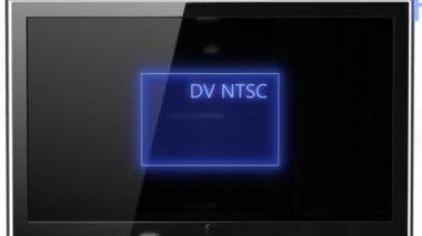 Aspect ratio concept NTSC compared FULL HD — Stock Video