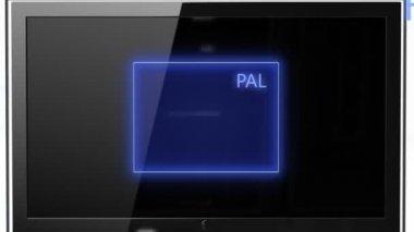 Aspect ratio concept PAL compared FULL HD — Stock Video