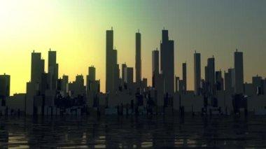 Time lapse city panorama — Stock Video