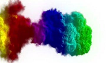 Rainbow explosion — Stock Video