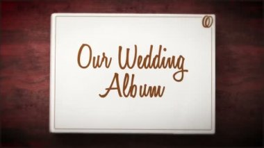 Blank Wedding album — Vídeo Stock