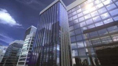 城市上空骑 — 图库视频影像