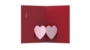 Post card with heart shape — Vidéo