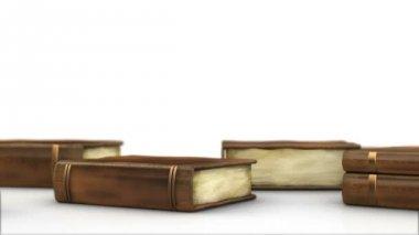 Libri sul tavolo — Video Stock